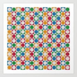 Colorful Geometric Textile Design Art Print