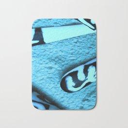 Blue on Ivory Bath Mat