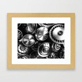 Hubcaps Framed Art Print