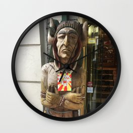Chief woodenhead Wall Clock