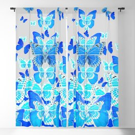 DECORATIVE BABY BLUE MONARCH BUTTERFLIES SWARMING Blackout Curtain