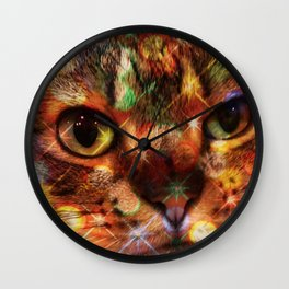 Kitty in the Sink Wall Clock