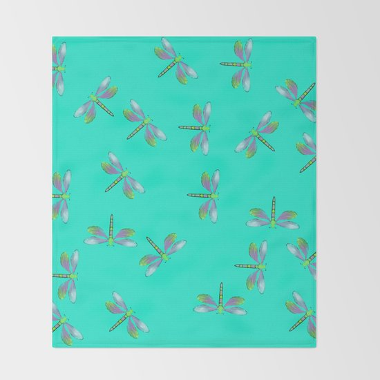 Dragonflies In Aqua and Purple by melindatodd