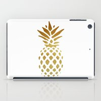 pineapple iPad Cases featuring Golden Pineapple by Pati Designs
