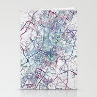 austin Stationery Cards featuring Austin map by MapMapMaps.Watercolors