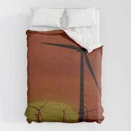 Windmills at Sunset  Comforters