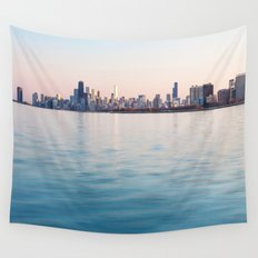 Chicago Sunset Wall Tapestry