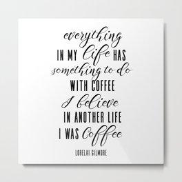 I was coffee; two Metal Print