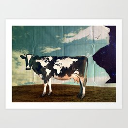Surreal Bovine Atlas  Art Print