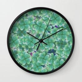 Four Leaf Clover Wall Clock