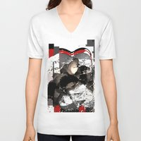 explore V-neck T-shirts featuring explore by sladja