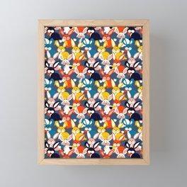 Rabbit colored pattern no2 Framed Mini Art Print