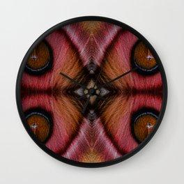 Mirrored Suraka Moth from Madagascar Wall Clock