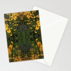 YELLOW RUDBECKIA DAISIES WATER REFLECTIONS Stationery Cards