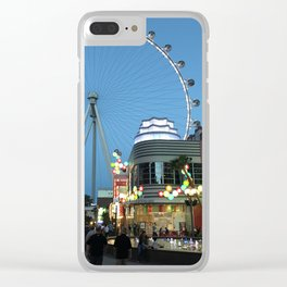 High Roller Observation Wheel in Las Vegas Clear iPhone Case