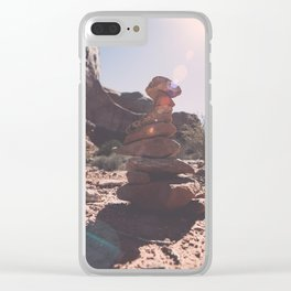 Trail Markers in Arches National Park Clear iPhone Case
