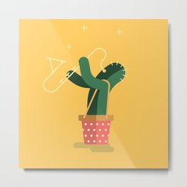 CACTUS BAND / The saxophone Metal Print