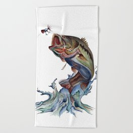 Bass Fish Beach Towel