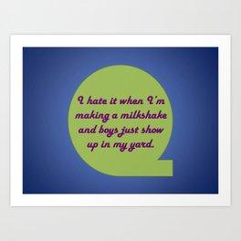 Milkshake Typeography Art Print