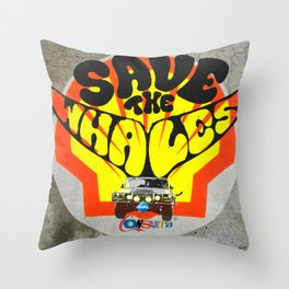 Modern Times - Save the whales Throw Pillow