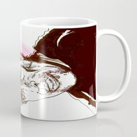 dracula Mugs featuring Dracula  by Christopher Chouinard