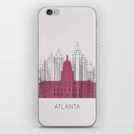 Atlanta Landmarks Poster iPhone Skin