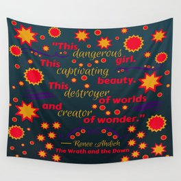The Wrath and the Dawn by Renee Ahdieh Wall Tapestry