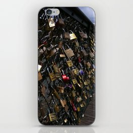 Love padlocks on Pont des Arts, Paris iPhone Skin