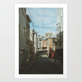 Russian Hill Wires Art Print