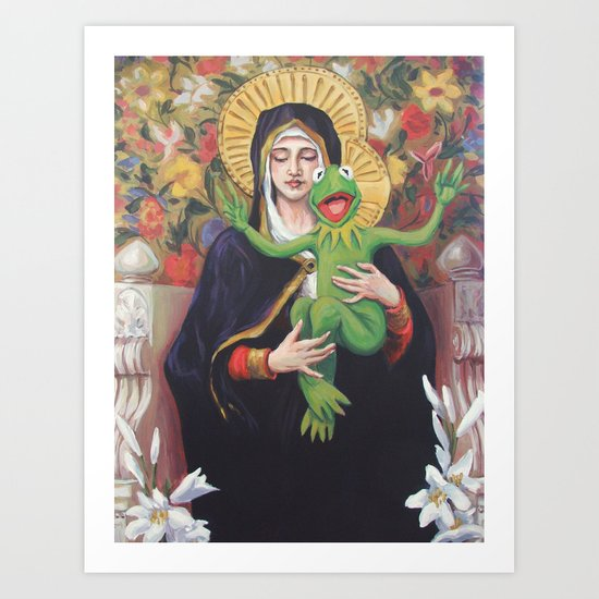 Virgin of the Lily Pad Art Print