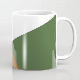 Geometry in tan and dark green Coffee Mug