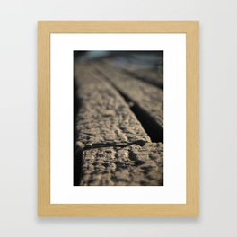 By the rowing sheds... Framed Art Print
