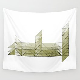 Congruence of Triangles in Light Green Wall Tapestry
