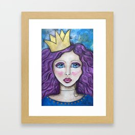 If The Crown Fits Framed Art Print
