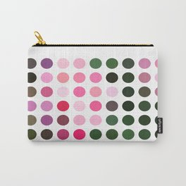 Pink Roses in Anzures 1 Dots Carry-All Pouch