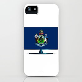 Maine Flag TV iPhone Case
