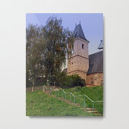 The village church of Kronstorf I | architectural photography Metal Print