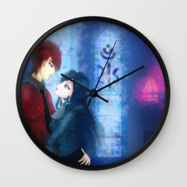 Gothic couple in church Wall Clock