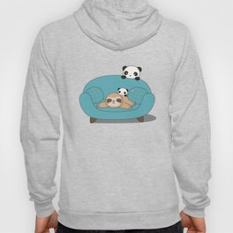 Kawaii Panda and Sloth Hoody
