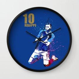 Sports art _ France world cup football 2018 Wall Clock