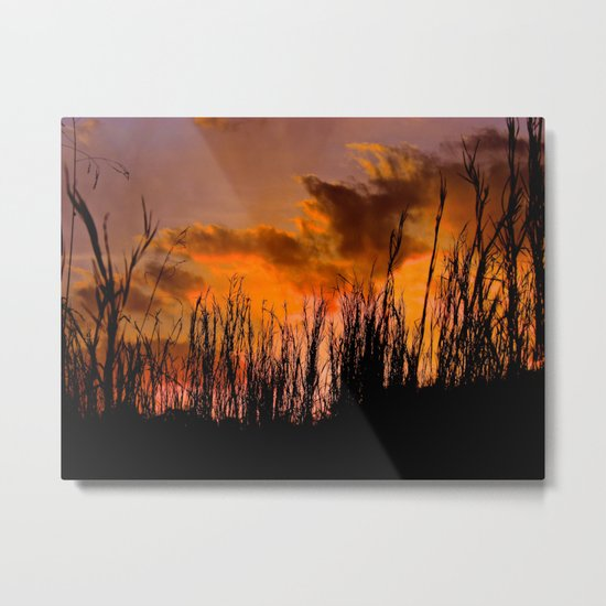 Fall's First Sunset Metal Print