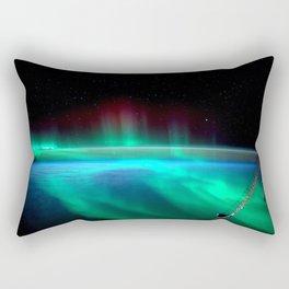 Aurora Borealis Over Earth Rectangular Pillow