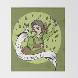 Una Cucarachita Throw Blanket