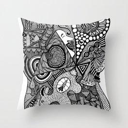 Samsara - The cycle of Birth and Rebirth Throw Pillow
