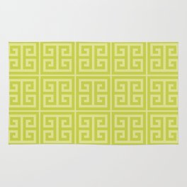 Lime Greek Key Pattern Rug
