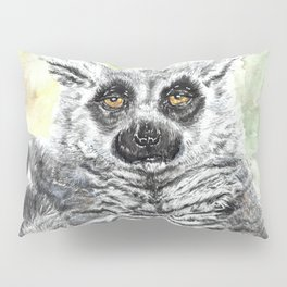 Ring-Tailed Lemur - cute animal, nature, lemur, eyeroll, zero given, not impressed, animals Pillow Sham