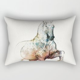 Horse (Siwy / Silver / color version) Rectangular Pillow