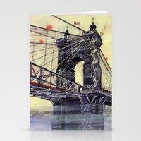 cincinnati Stationery Cards featuring Cincinnati by takmaj