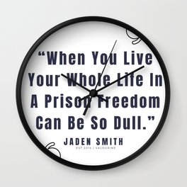 48   |  Jaden Smith Quotes | 190904 Wall Clock