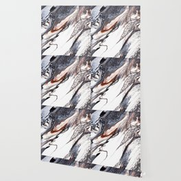 Abstract Fluid Acrylic Painting Wallpaper